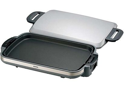 electric griddle with lid